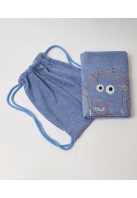 Handdoek 70X140cm blauw...