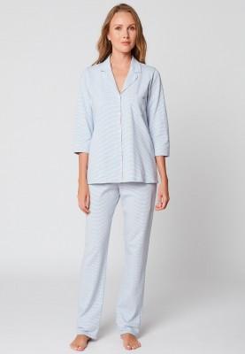 Dames pyjama bleu chine...