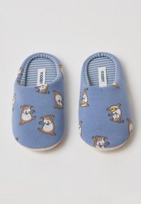 Pantoffels blauw cavia...