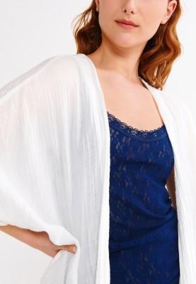 Dames jas gebroken wit...