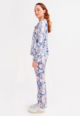 Dames pyjama blauwe algen...