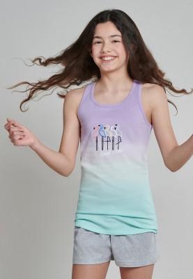 Meisjes pyjama short lilac...