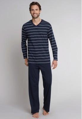 Heren pyjama dark blue long...
