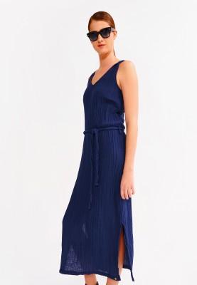 Dames kleed donkerblauw...