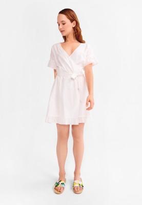 Dames kleed gebroken wit...