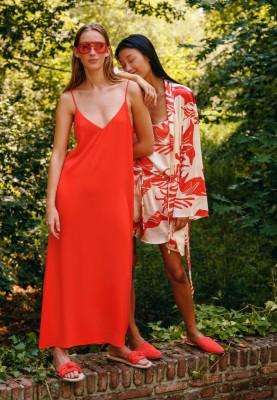 Dames kleed rood 2115LDQW433