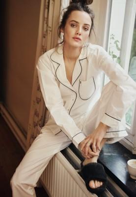 Dames pyjama gebroken wit...