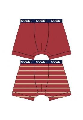 Jongens short 2pack rood...