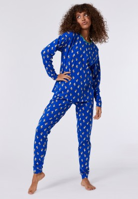 Dames pyjama blauw ijsbeer...