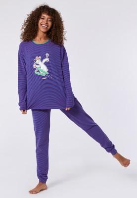 Dames pyjama blauworanje...