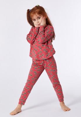 Meisjes pyjama roze wasbeer...