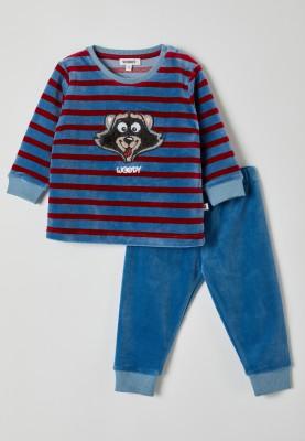 Jongens pyjama blauwrood...