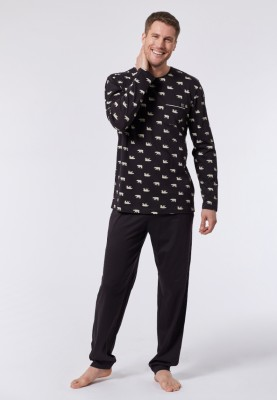 Heren pyjama bruin...