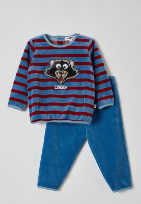 Meisjes pyjama blauwrood...