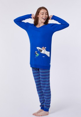 Dames pyjama blauw...
