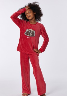 Dames velours pyjama roze...