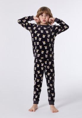 Jongens pyjama donkerbruin...