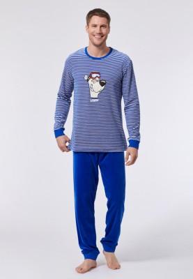 Heren pyjama blauwwit...