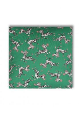 Kussensloop zebra groen...