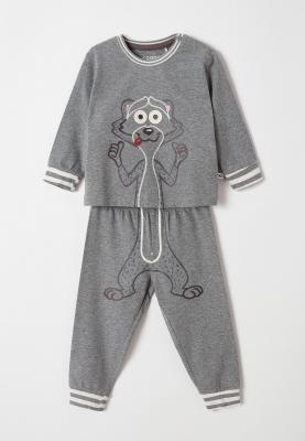 Jongens pyjama grijs mlange...