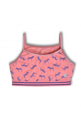Topje zebra roze allover...
