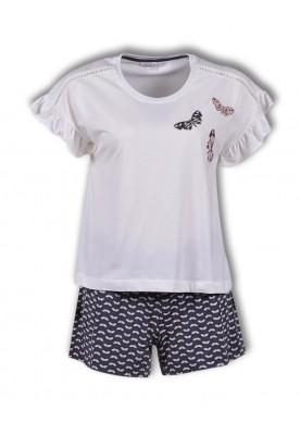 Dames pyjama vlinders grijs...