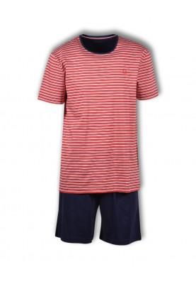Heren pyjama rood gestreept...