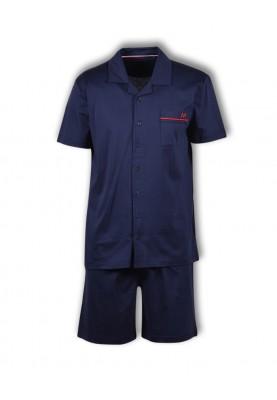 Heren pyjama donkerblauw...