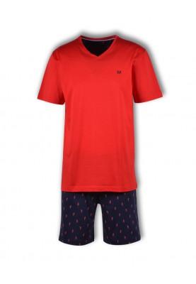 Heren pyjama fel rood...