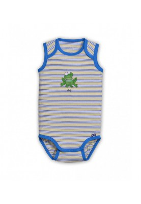 baby body blauw gestreept...