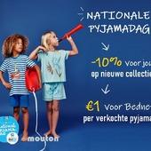 🎈🎉Vrijdag 12 maart is NATIONALE PYJAMADAG 🎉🎈  Die dag steunen we met z'n allen kinderen die niet naar school kunnen wegens langdurige ziekte.   ▶️ we SCHENKEN VOOR ELKE VERKOCHTE PYJAMA €1 aan Bednet, de organisatie die deze kleine dappere Pyjama-Helden steunt  ▶️ voor jullie de hele week 10% KORTING OP SLAAPKLEDIJ van de nieuwe collecties. Uiteindelijk zijn we het voorbije jaar allemaal ook een beetje thuisblijf-pyjama-helden geweest 😉  Ga jij VRIJDAG 12 MAART ook in pyjama naar school, de sportvereniging of het werk? Of werk je van thuis uit? Doe dit dan ook de hele dag in je mooiste pyjama.  📸 Toon je warm hart en post een leuke foto hiervan op je sociale media met #pyjamadag #bednet #moutonaalst. We hebben nog een leuk extra'tje voor je als je @moutonaalst ook tagt. 🎊😎💝  Fijne Pyjamadag!  *actie geldig in de winkel als op www.moutonaalst.be. In de winkel groter aanbod nieuwe collecties dan online  *actie van donderdag 11 maart tot en met vrijdag 19 maart  #bednet #pyjamahelden #moutonaalst