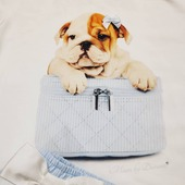 This is my happy face. There is always a reason to laugh! 😅😉 #dagvandelach #happyface #bulldog .  #moonbyduranti #pyjamaparty #moutonaalst #swarovski #diamantje #ubercute